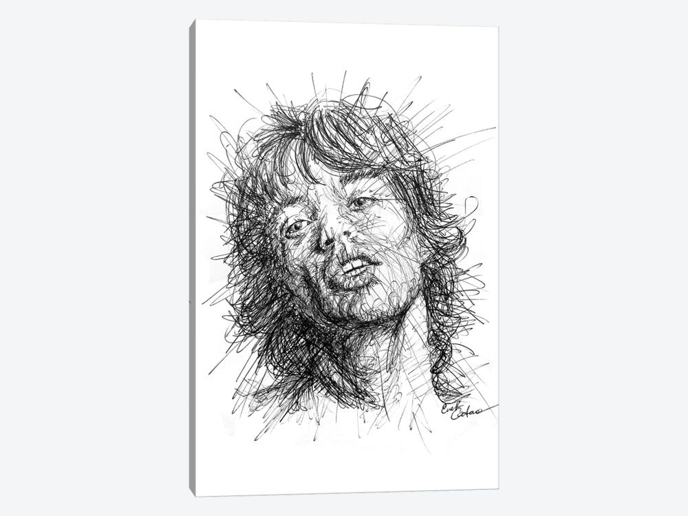 Mick Jagger by Erick Centeno 1-piece Canvas Art Print