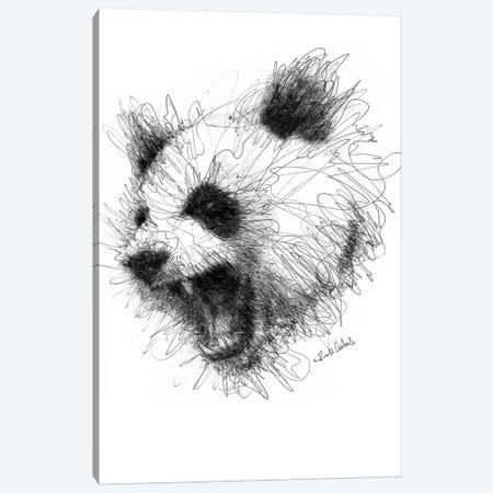 Angry Panda Canvas Print #ECE3} by Erick Centeno Canvas Print