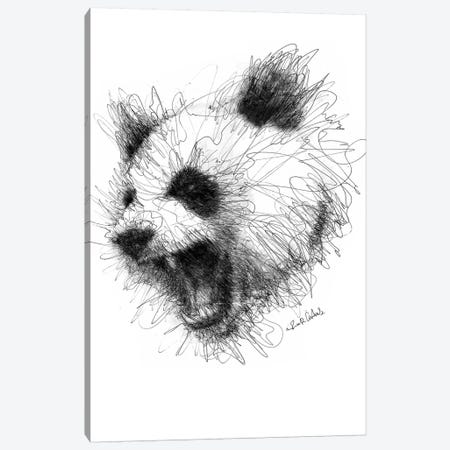 Angry Panda Canvas Print #ECE3} by Erick Centeno Canvas Print