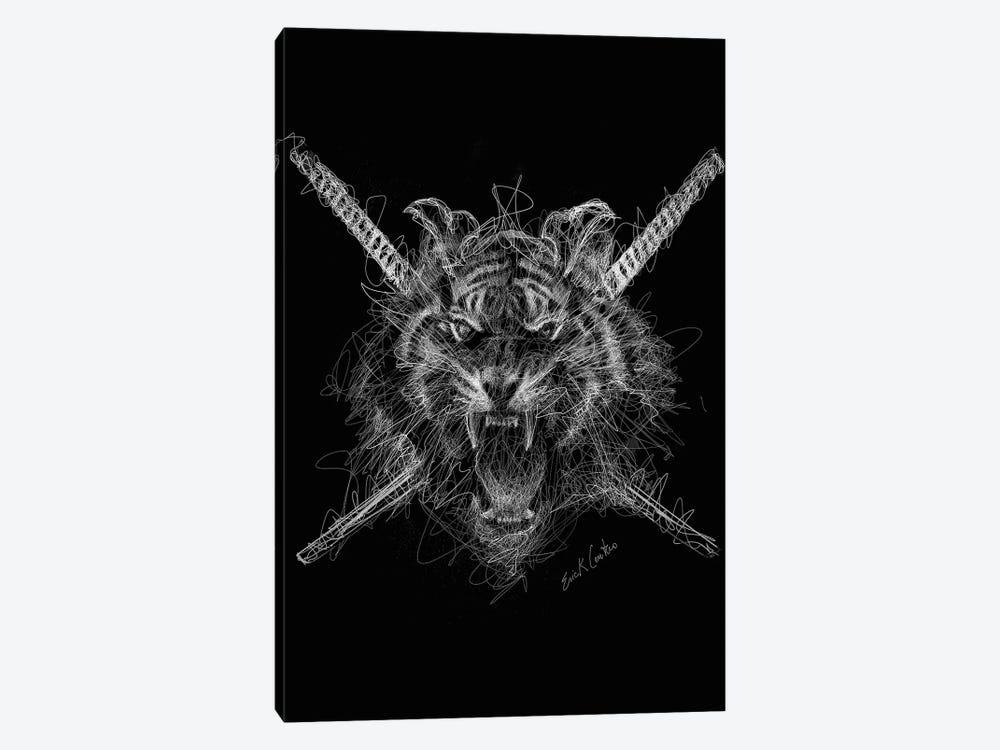 Samurai Tiger by Erick Centeno 1-piece Canvas Art Print