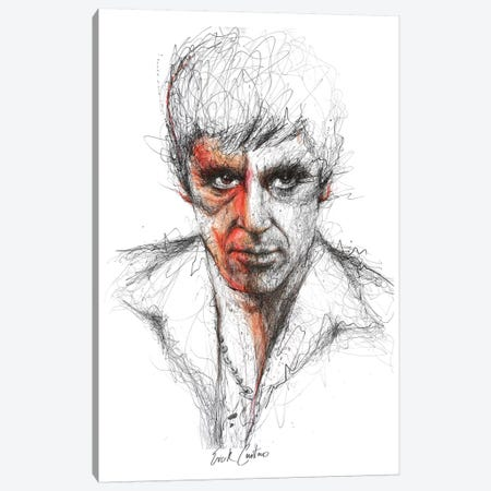 Scarface Canvas Print #ECE48} by Erick Centeno Canvas Art