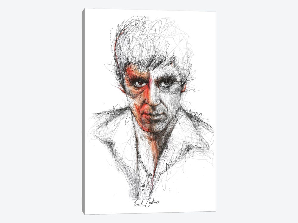 Scarface by Erick Centeno 1-piece Canvas Art