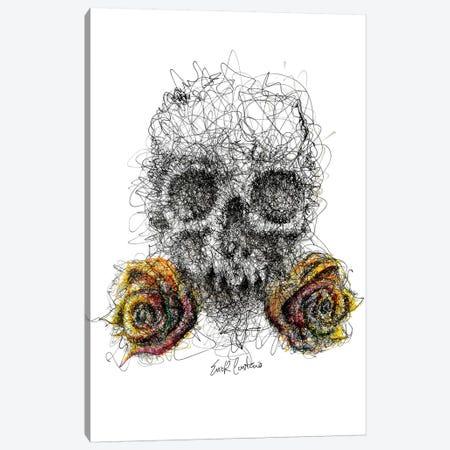 Skull & Roses Canvas Print #ECE50} by Erick Centeno Canvas Print