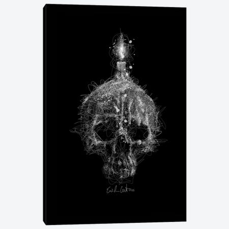 Skull Candle Canvas Print #ECE51} by Erick Centeno Canvas Print