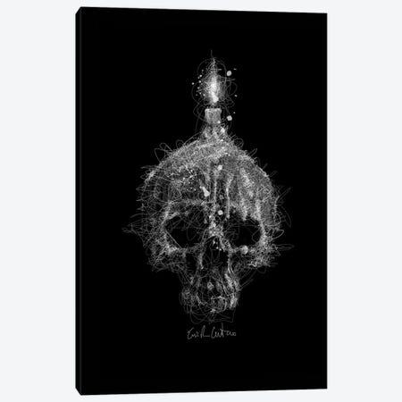 Skull Candle Canvas Print #ECE51} by Erick Centeno Canvas Print