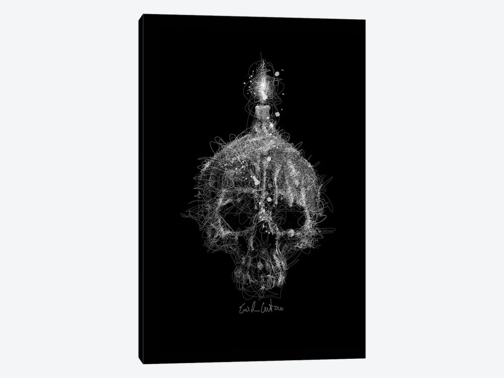 Skull Candle by Erick Centeno 1-piece Canvas Art