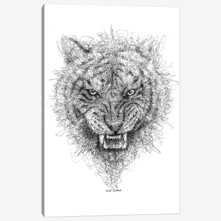 Tiger Look Canvas Print #ECE57} by Erick Centeno Canvas Wall Art