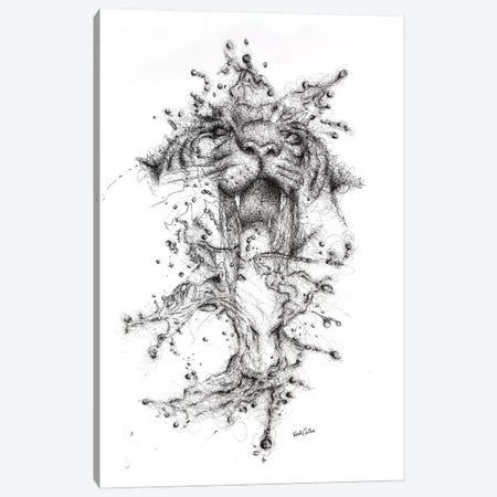 Water Tiger Canvas Print #ECE59} by Erick Centeno Art Print