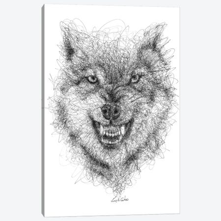 Wolf Look Canvas Print #ECE60} by Erick Centeno Canvas Wall Art