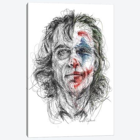 Joker Canvas Print #ECE76} by Erick Centeno Canvas Art