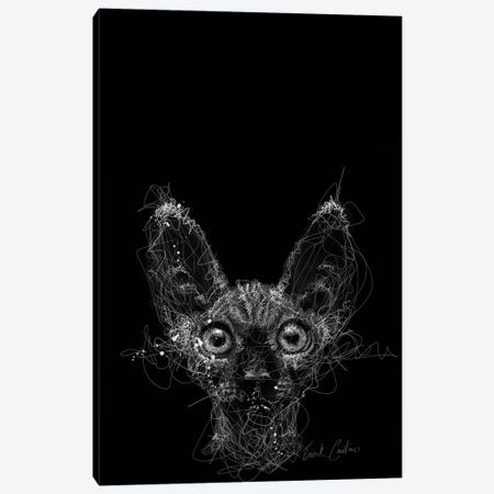 Cat Night Canvas Print #ECE7} by Erick Centeno Canvas Wall Art