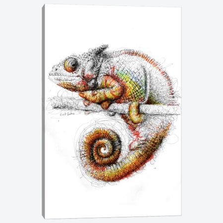Chameleon Canvas Print #ECE8} by Erick Centeno Canvas Print