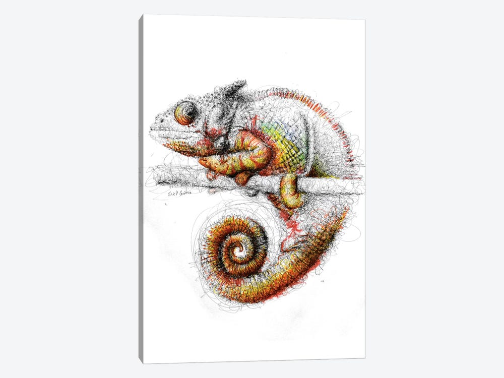Chameleon by Erick Centeno 1-piece Canvas Wall Art