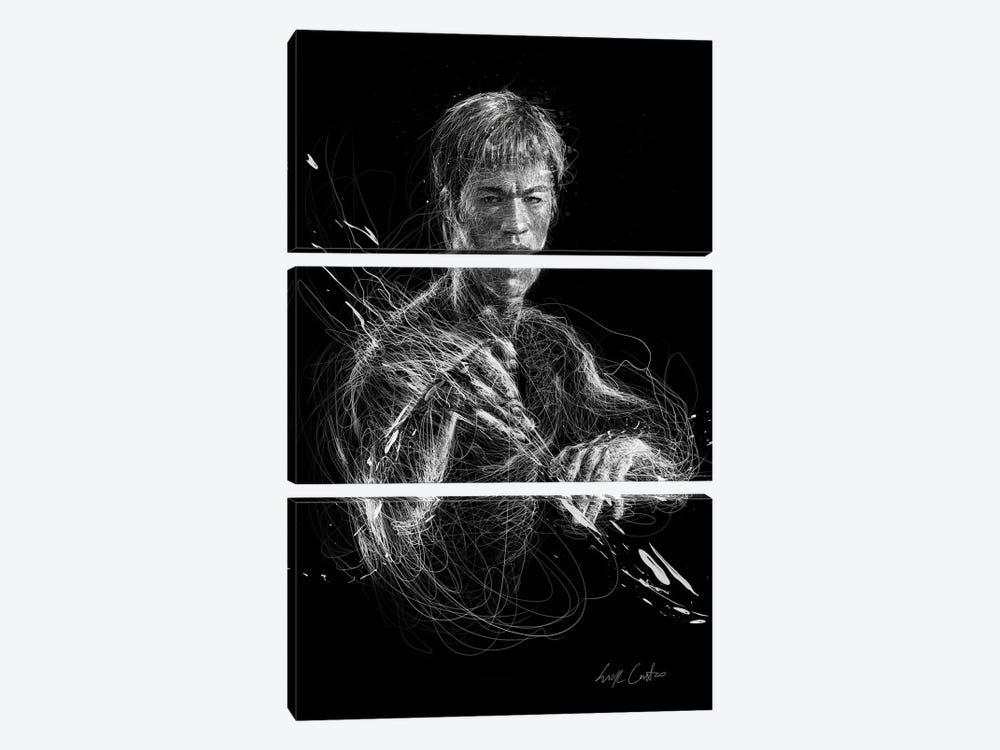 Bruce Lee by Erick Centeno 3-piece Canvas Print