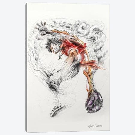 Luffy 3-Piece Canvas #ECE99} by Erick Centeno Canvas Print