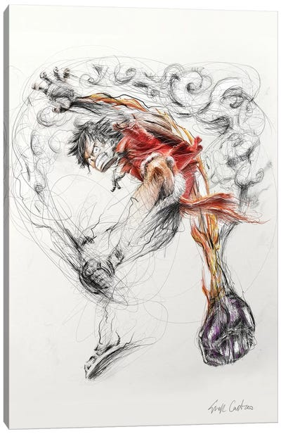 Luffy Canvas Art Print