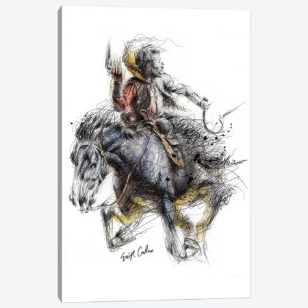 Cowboy Canvas Print #ECE9} by Erick Centeno Canvas Print