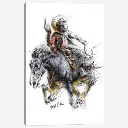 Cowboy 3-Piece Canvas #ECE9} by Erick Centeno Canvas Print