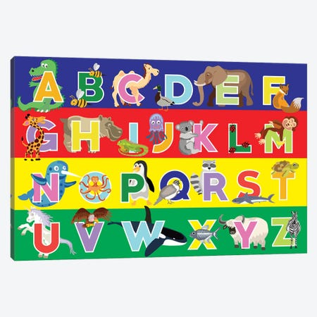Alphabet Puzzle 3-Piece Canvas #ECK101} by Erin Clark Canvas Wall Art