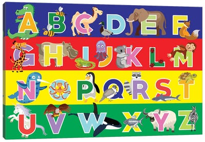 Alphabet Puzzle Canvas Art Print