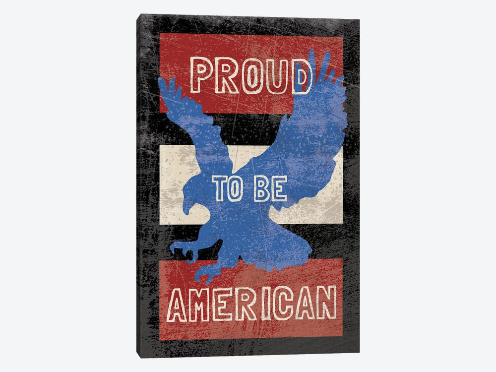 American Textured by Erin Clark 1-piece Canvas Wall Art