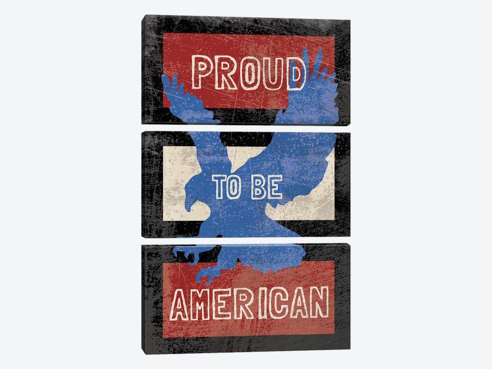 American Textured by Erin Clark 3-piece Canvas Wall Art