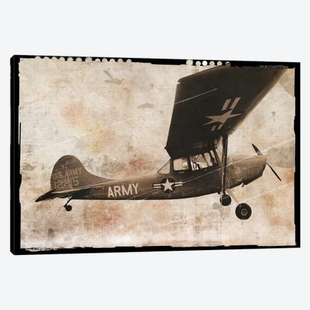 Army Plane Canvas Print #ECK105} by Erin Clark Art Print