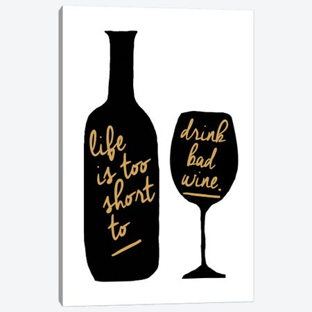 Bad Wine Canvas Print #ECK107} by Erin Clark Canvas Art Print