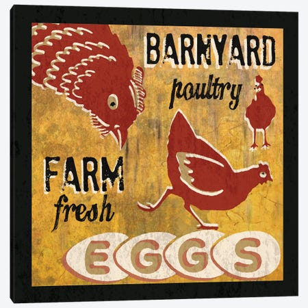 Barnyard Poultry Canvas Print #ECK108} by Erin Clark Canvas Artwork