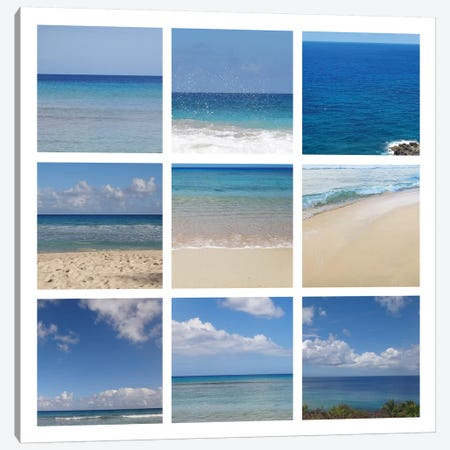 Beach Collage Canvas Print #ECK111} by Erin Clark Canvas Print