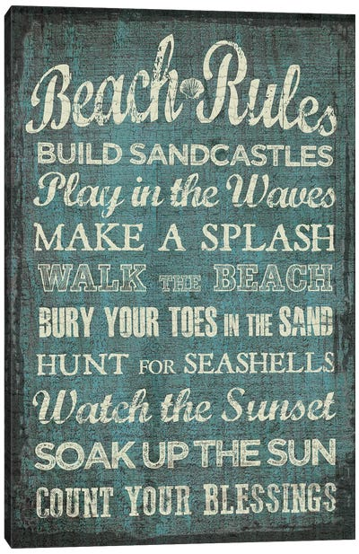 Beach Rules Canvas Art Print