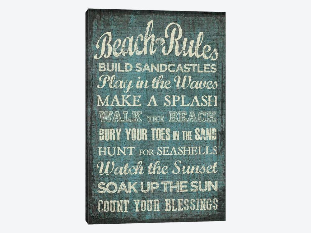 Beach Rules by Erin Clark 1-piece Canvas Print