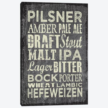 Beer Sign II Canvas Print #ECK117} by Erin Clark Canvas Wall Art