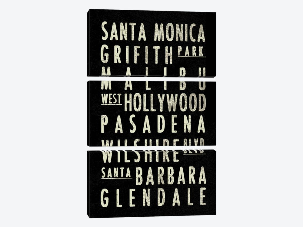 LA by Erin Clark 3-piece Canvas Art Print
