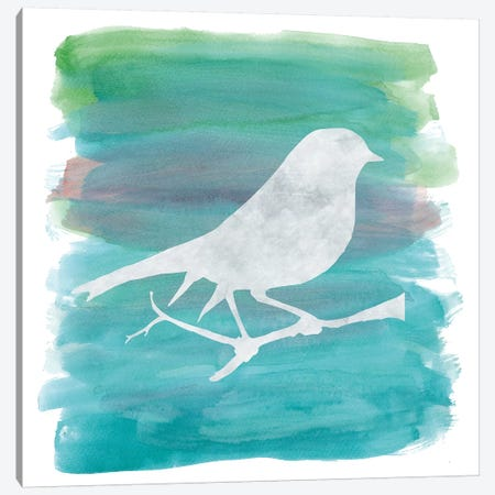 Bird Silhouette I Canvas Print #ECK126} by Erin Clark Canvas Art Print