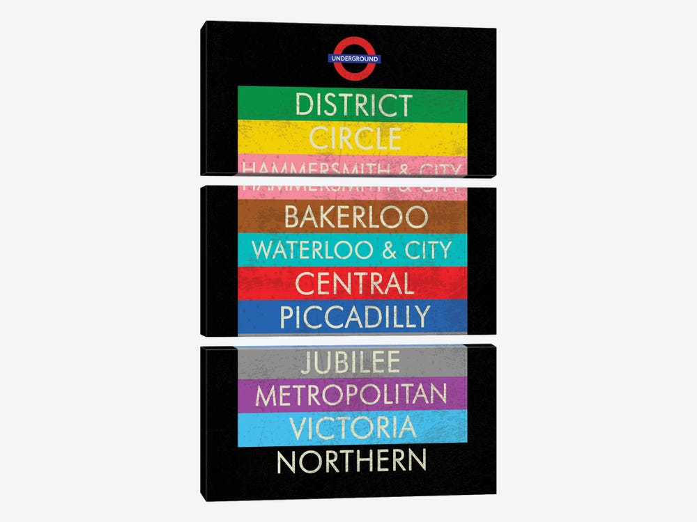 London by Erin Clark 3-piece Canvas Artwork