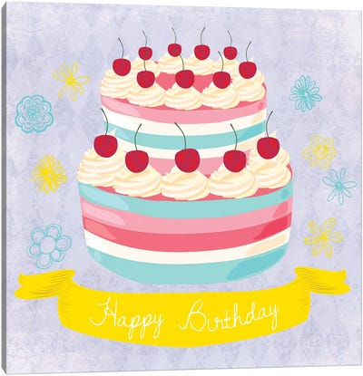 Birthday Cake Canvas Art Print