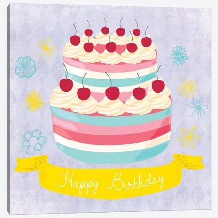 Birthday Cake Canvas Print #ECK131} by Erin Clark Art Print