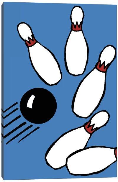 Blue Bowling Canvas Art Print