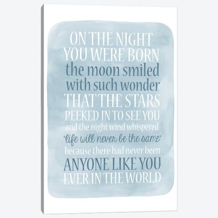 Boy Night Born Canvas Print #ECK138} by Erin Clark Art Print