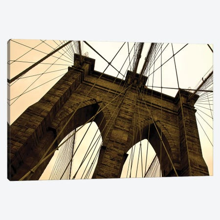 Brooklyn Bridge II  Canvas Print #ECK140} by Erin Clark Canvas Artwork