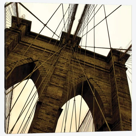 Brooklyn Bridge II Square Canvas Print #ECK141} by Erin Clark Canvas Artwork