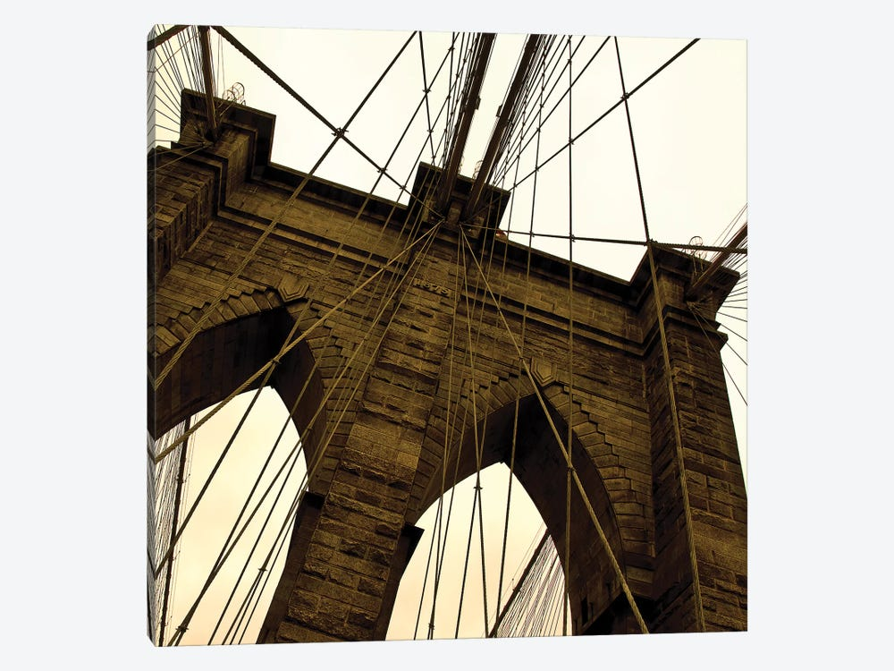 Brooklyn Bridge II Square by Erin Clark 1-piece Canvas Art Print