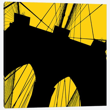 Brooklyn Bridge Silhouette Canvas Print #ECK142} by Erin Clark Canvas Artwork