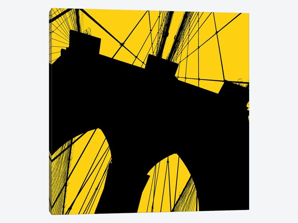 Brooklyn Bridge Silhouette by Erin Clark 1-piece Canvas Art