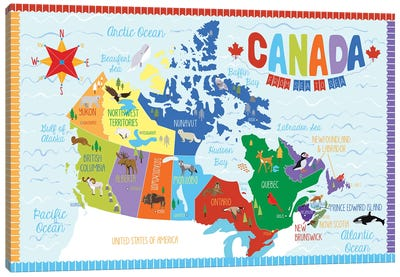 Canada Map Canvas Art Print