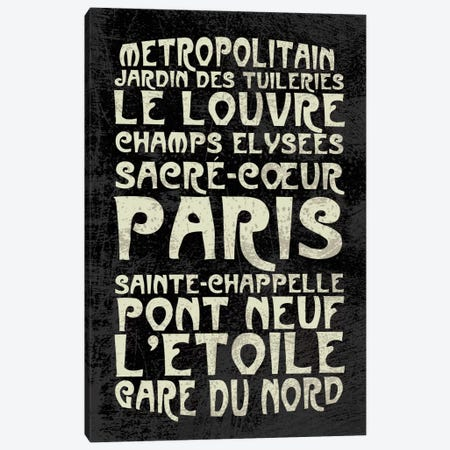 Paris Canvas Print #ECK14} by Erin Clark Canvas Artwork