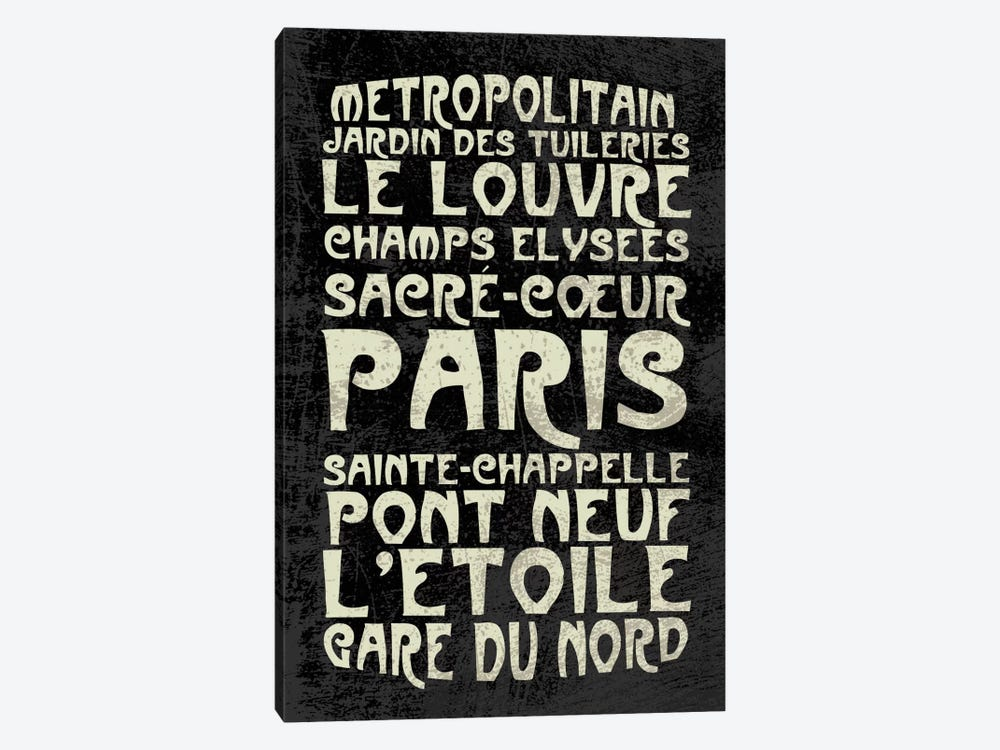 Paris by Erin Clark 1-piece Canvas Artwork