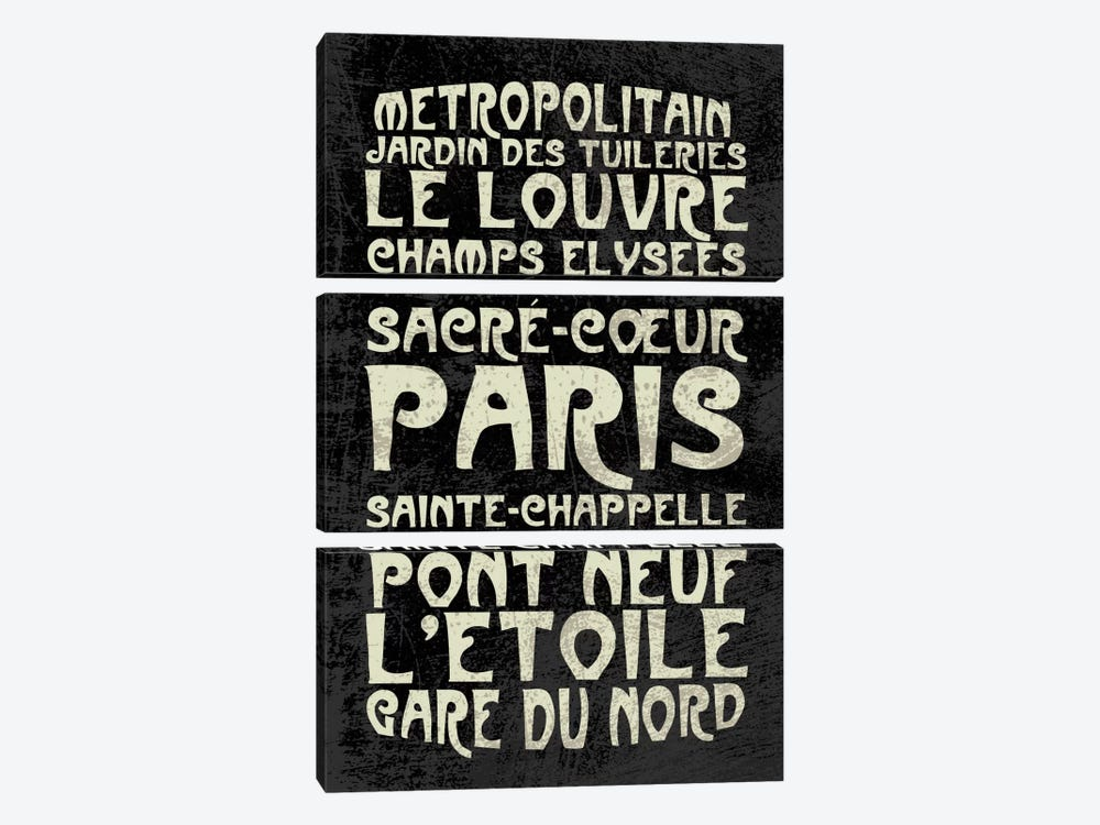 Paris by Erin Clark 3-piece Canvas Art