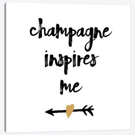 Champagne Canvas Print #ECK150} by Erin Clark Art Print